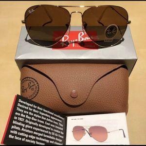NWT Ray Ban Aviator Sunglasses RB30226 62mm